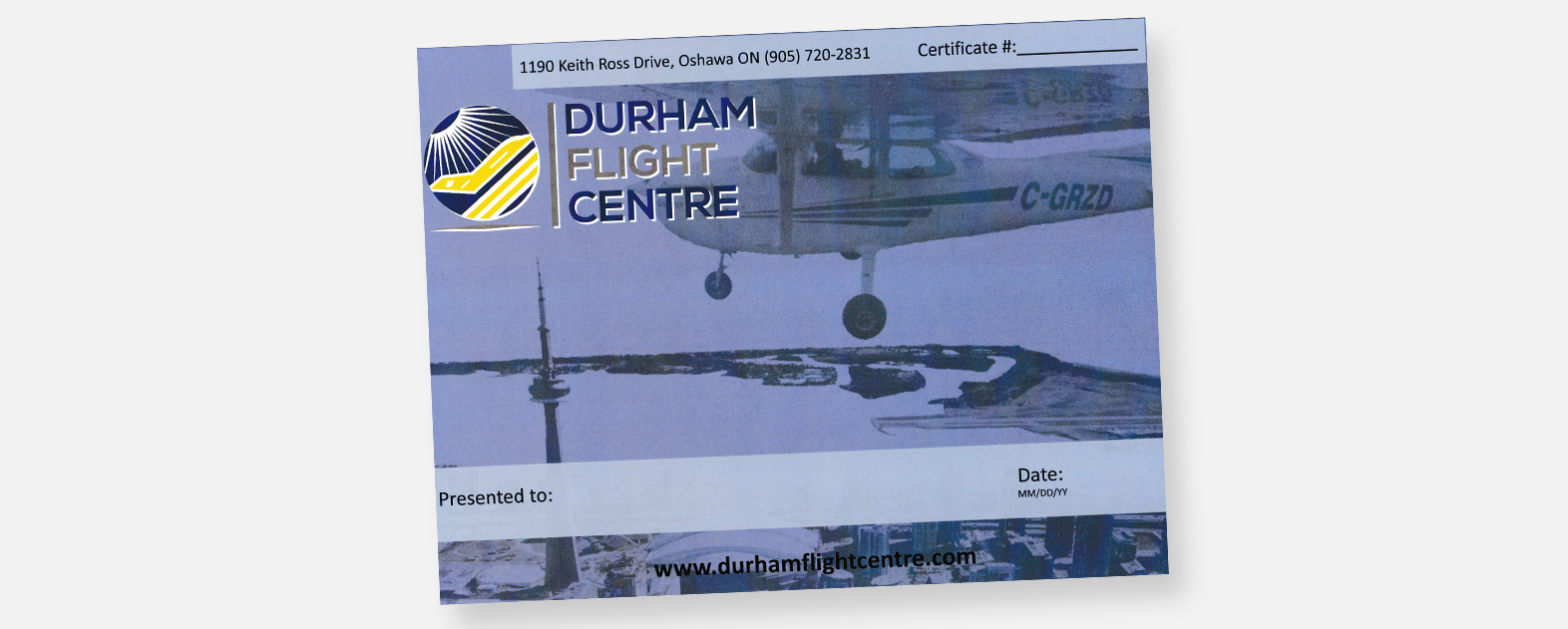 GIFT CERTIFICATES – Durham Flight Centre
